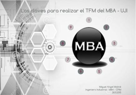 Las claves para realizar el TFM del MBA-UJI